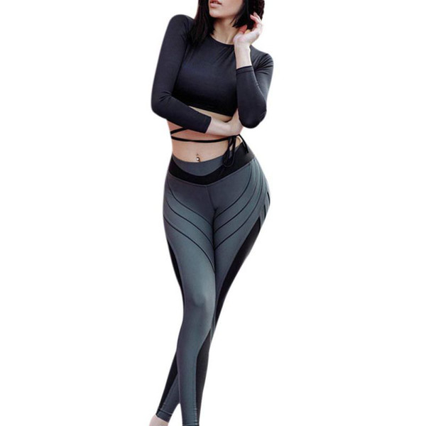 Woman Push Up Running Tights Yoga Pants Sexy Leggings for Fitness Gym Sports Female Stitching Seamless High Waist Sportswear