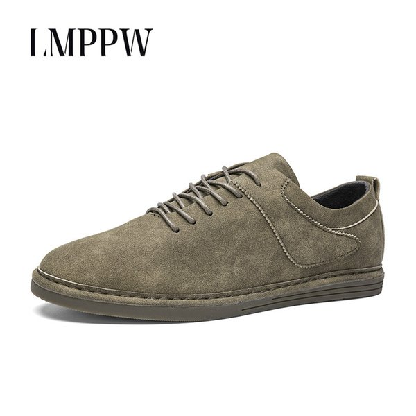 2b682af8982cd Cheap Fashion Vintage Men'S Shoes Spring Autumn Men Loafers Soft Moccasin  Casual Breathable Suede Leather Oxford Shoes For Men Flats 8 Mens Dress ...