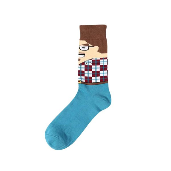 Nibesser Harajuku Design Cartoon Cotton Socks New Arrival Men Crew Socks Casual Pizza Hamburger Cactus Pattern Hip Hop British