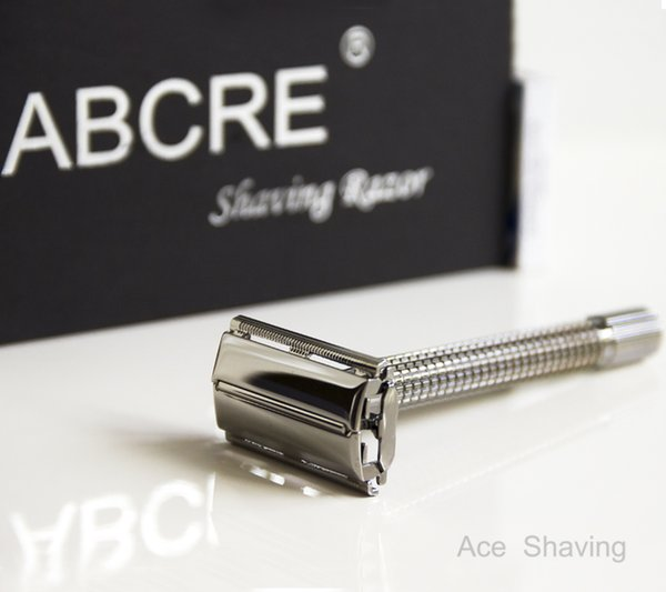 Double Edge Safety Shaving Razor Copper Alloy Extra Length Butterfly Head Metal Handle 10 Pcs DE Blades Gift Box
