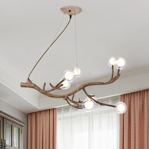 Nordic post-modern LED magic bean chandelier lights living room dining room bedroom study creative personality tree branches molecular lamps