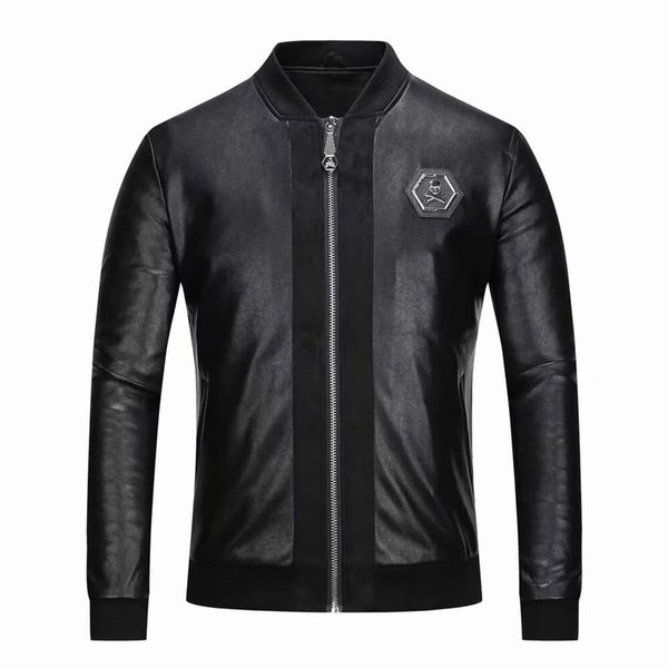 2018 высокое качество итальянский известный бренд мужской искусственный мех большая одежда мода пилот проект импортированных pp замша куртка мужская тонкий рубашка M-3XL