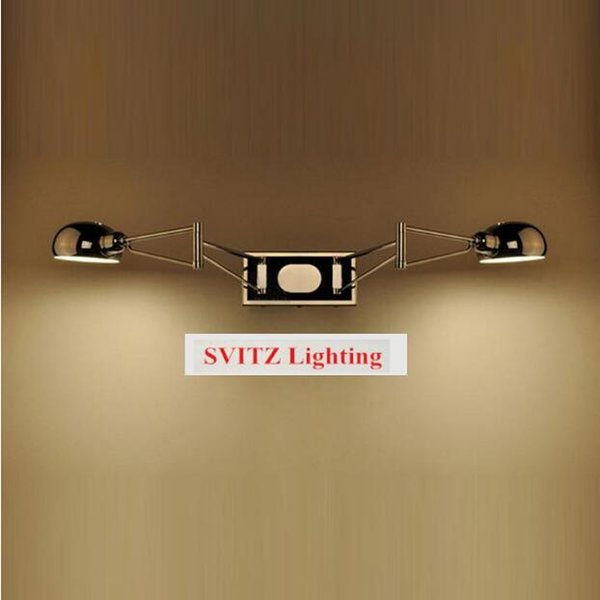 SVITZ 2 arms modern wall lamps trendy Swing led Wall Sconce lamp 2 lights Bedside chrome wall Lights Reading light bedroom