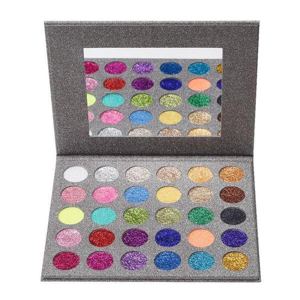 30 Colors Glitter Diamond Rainbow Eyeshadow Palette Professional Shimmer Pressed Eyeshadow Powder Palette Pigments Makeup