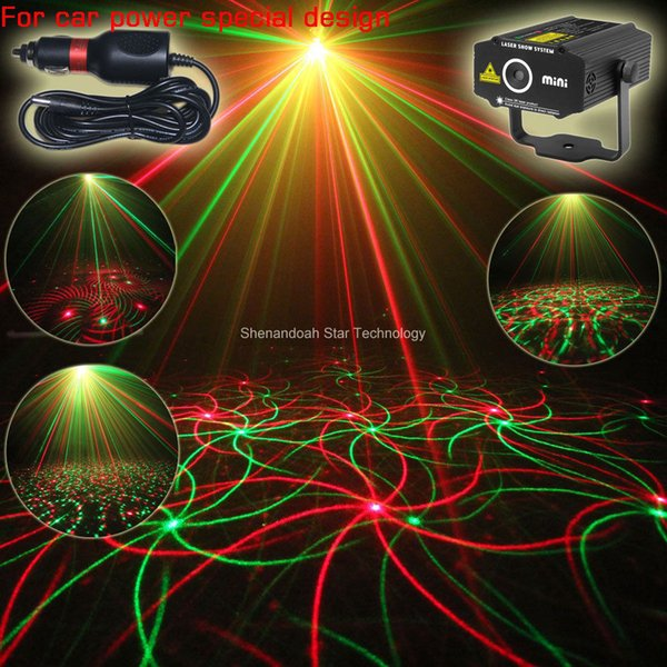 ESHINY Car Used Plug Mini RG laser Projector whirlwind 4 patterns Light field outdoor garden hillside Park Party effect Stage Light Show CR1