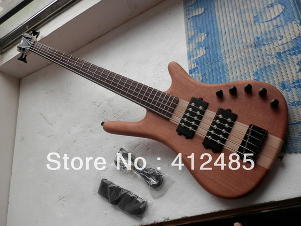 Free shipping Warwick Corvette NT 5 String Brown bass electric guitar in Natural color