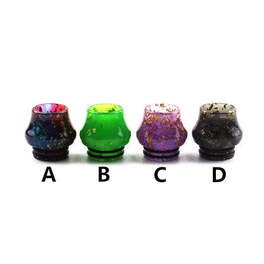 810 Drip Tips for e cigarette Colorful Vase Epoxy Resin Drip Tip fit TFV8 TFV12 Vape Rda Atomizer Mouthpiece