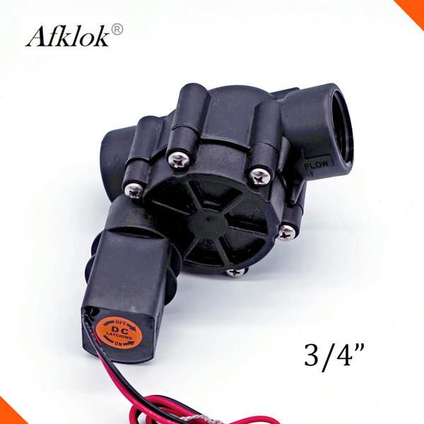 AFK Brand Nylon Material water farm irrigation Nylon pulse 12VDC solenoid latch valve 3/4 BSP Connect
