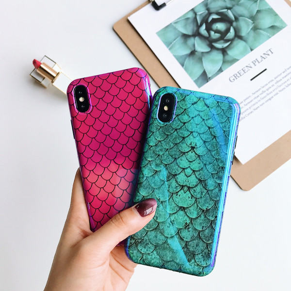Cute Soft Silicone Blue Ray Phone Case for Iphone X 8 7 6 6S Plus Cell Back Cases Cover Shell X 8 7 6 6S Plus Housing Accessories