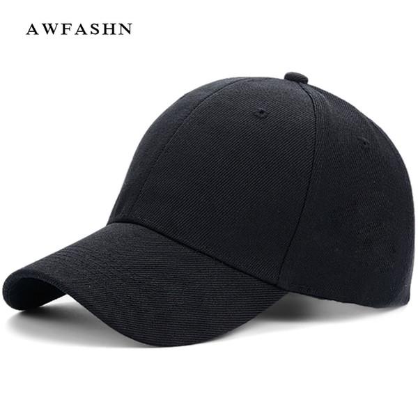 Moda gorras de béisbol color sólido hip hop sombrero hombre mujer alta  calidad negro camo sport f6739e21531