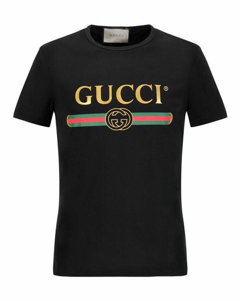 2019 Brand New Summer Designer Brand letter Print T Shirt Men'S Short Sleeve Tshirt Men 100% Cotton T-Shirt S-5XL plus size tops & tees