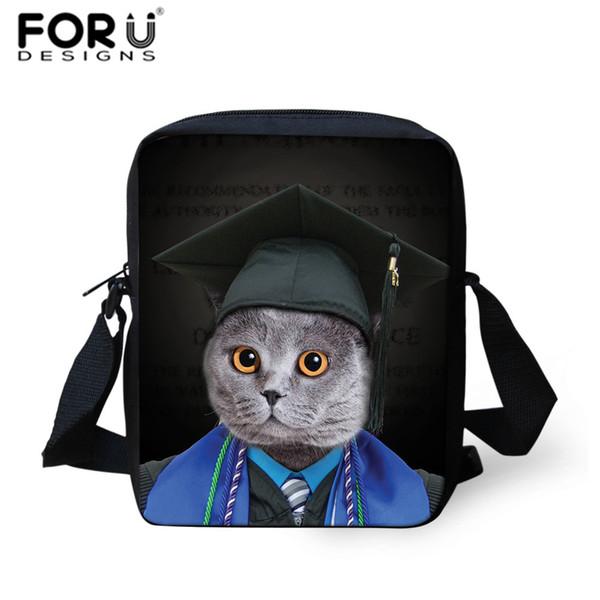 FORUDESIGNS Children Satchel School Crossbody Bags Kids Doctor Cat Dog Print Mini Messenger Bag For Teens Women Shoulder Bookbag