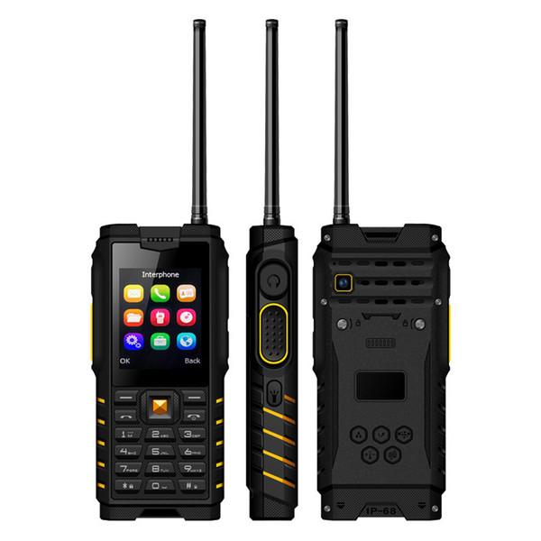 Cheap Walkie Talkie PTT dual sim Cell Phone Alps T2 IP68 Waterproof rugged UHF 2.4Inch 2500mAh Mobile phone