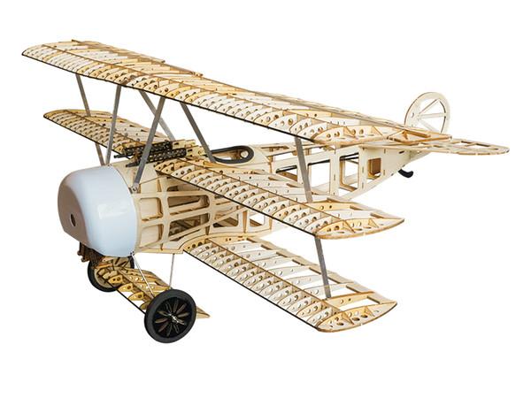 Livraison Gratuite Balsawood Modèle D'avion Laser Cut Electric Power Fokker 770mm Envergure Kit de Construction Woodiness modèle / PLAN DE BOIS