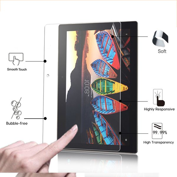 """High Clear Glossy screen protector film For Lenovo TAB3 10 Business TB3-X70F 10.1"""" tablet HD lcd screen protective films + tools"""