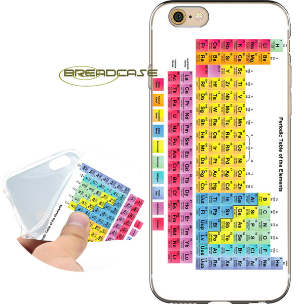 Coque Química periódica tabelas casos para iphone 10x7 8 6s 6 mais 5s 5 se 5c 4s 4 ipod touch 6 5 Limpar Macio TPU Capa de Silicone.