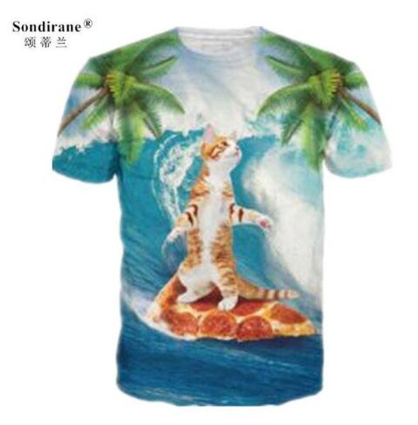Sondirane Cute Animal funny Cat 3D Print T Shirts Summer Quick Dry T Shirts Hip Hop Tops Comfortable Tees Men/Women quick dry Clothing