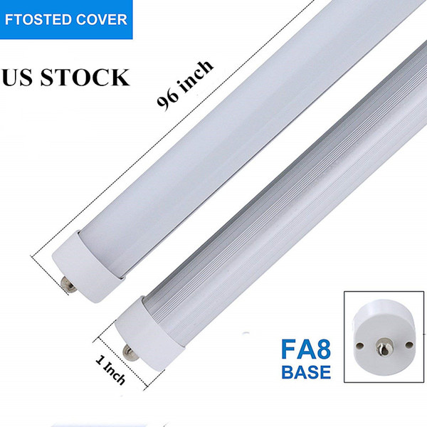 8ft LED Bulbs,T8 LED Light Tube Bypass Ballast,40W 5200 Lumens,6000K Cool White,Fluorescent Bulbs Replacement,with Frosted Cover 25-Packs