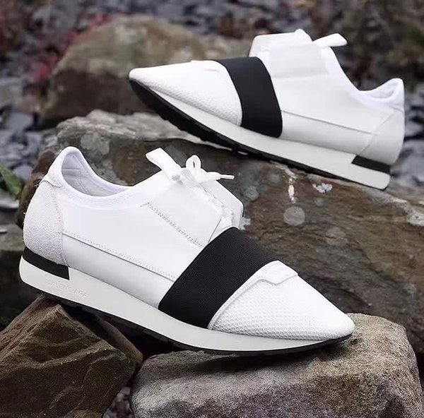 Sales Men Women Street Fashion Shoes Lace-up Patchwork Paris Designer Trainer Sneakers Speed Runner Walking Shoe Lovers Casual Flats Shoe
