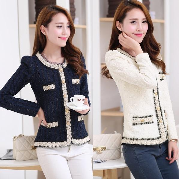 2017 Yeni blazer kadın madeni pul resmi blaser ceket kadın iş elbisesi için artı boyutu bayan ceket takım elbise üst tunik beyaz, siyah S ~ XXL