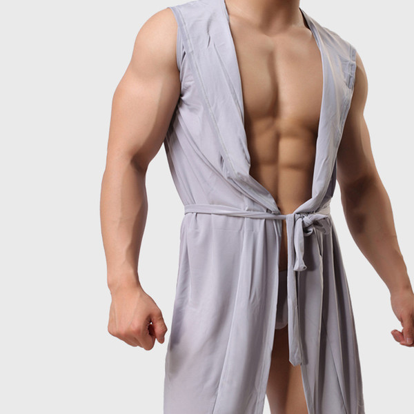 mens sleepwear one-piece cotton underwear men compression sleeveless quick dry sexy body shaper sexy sleepwear for men