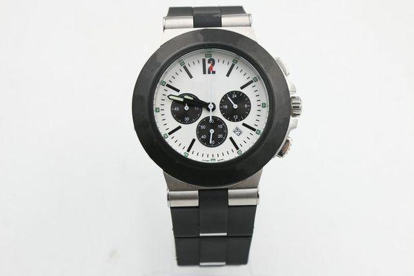 New Top Fashion Luxury 6-pin Black Steel Men's Watch BB42 44mm BB42 High-strength Glass Stainless Steel Electronic Quartz