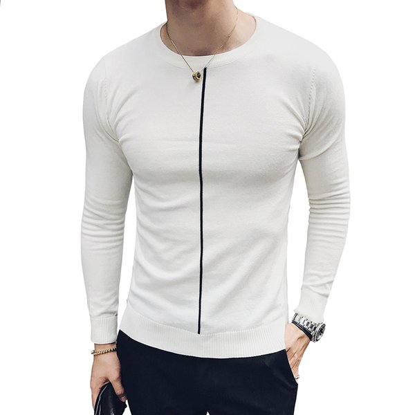 bien pas cher dernier style de 2019 prix limité Acheter Simple Stripe Pull Hommes Vintage Slim Fit Noir Blanc Solide Homme  Pull Trui Heren Pull Homme Hommes Pull De $58.9 Du Begonier   DHgate.Com