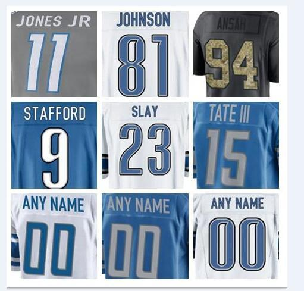 more photos ad506 66c79 Custom Detroit Darius Slay Lion Jersey Marvin Jones Jr Salute To Service  Vapor Authentic American Football Matt Prater Jersey Women Cheap Best Sites  ...
