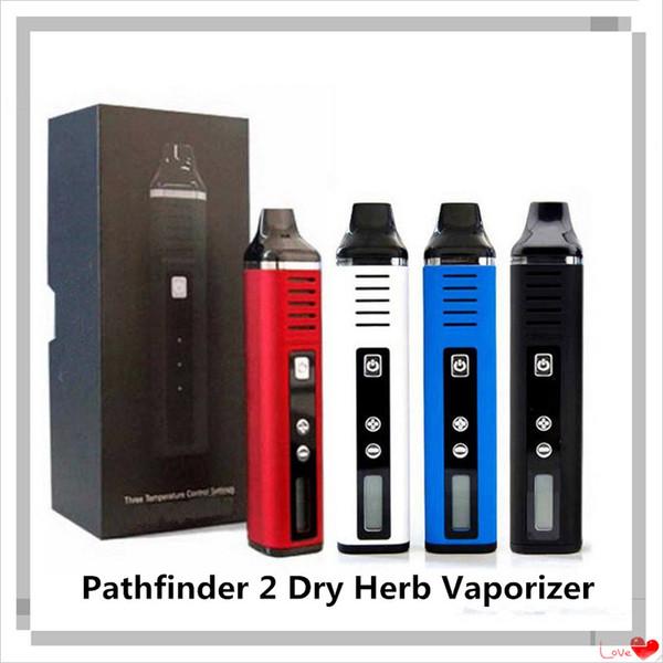 Authentic Pathfinder 2 Dry Herb Vaporizer Kit Temperature Control Herbal Starter Kits Vape Pen 2200mah Vapes E-Cigarette Kit