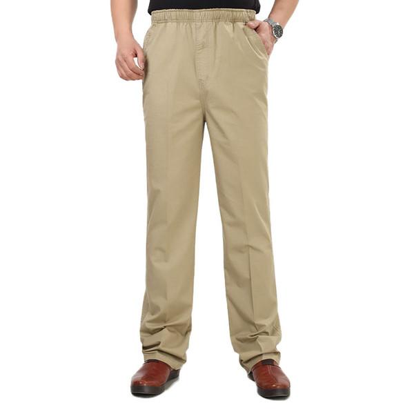 Printemps et été collants pour hommes minces, pantalons décontractés, taille élastique, pantalons pour hommes, pantalons taille haute pour personnes agées et personnes âgées cxy60