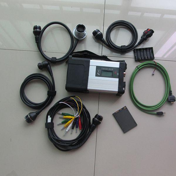 Professional für Benz Diagnosewerkzeug MB Star C5 SD Connect Multiplexer mb star c5 mit fünf Kabeln und 2018.09 SSD win7