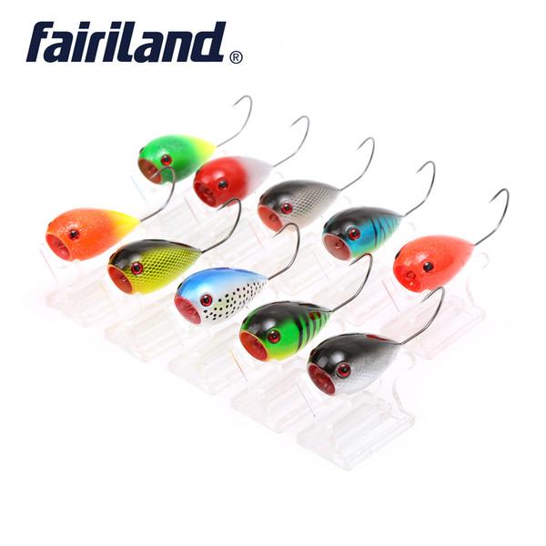 Fairiland 10 Adet Yumurta Balıkçılık Lures 80mm / 3.15in 13.2g / 0.47 oz Yüzer Popper Yumurta Yem Crankbait Sert Balıkçılık Wobbler 6/0 # Tek Kanca