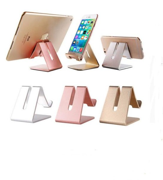 Universal Phone Holder Metal Anti-slip Cell Phone Holders Desktop Desk Mount Phone Stand for iPhone Smartphone Samsung Tablet free shipping