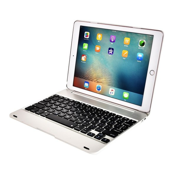 Padpro9.7 Padair 2 Smart Cover Folio Wireless Bluetooth 3 Keyboard Aluminum ABS C098 with 80mAh Battery 4 Colors