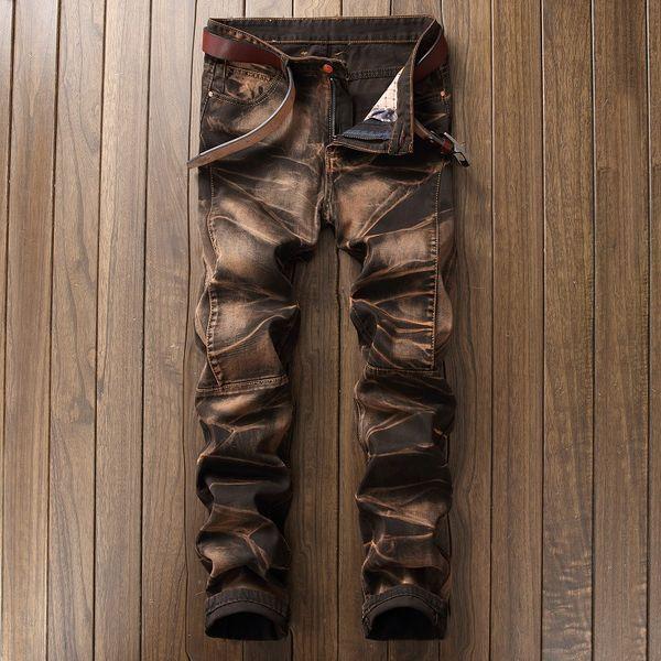 De nouvelles 2018 la mode des hommes vintage Jeans classiques jean slim mens pantalon Designer vêtements Taille Plus 42