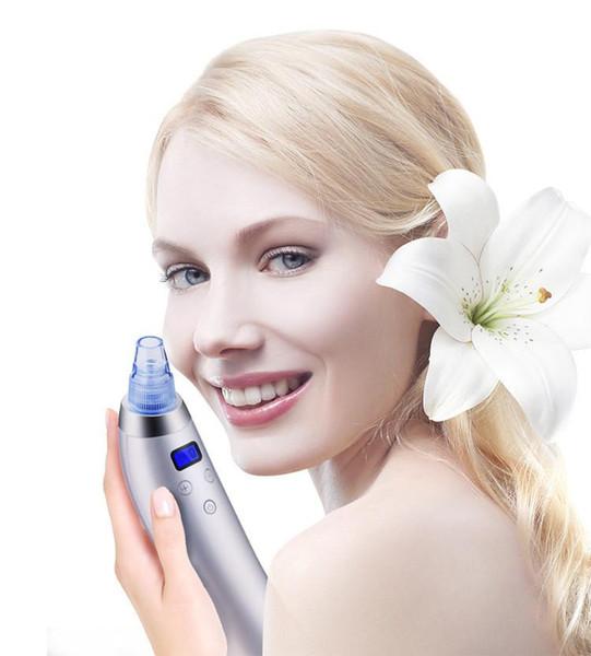 2018 cuidado de la piel caliente poro aspiradora removedor de la espinilla eliminación de la espinilla del acné herramienta de succión de vacío cara limpia la máquina de dermoabrasión diamante facial