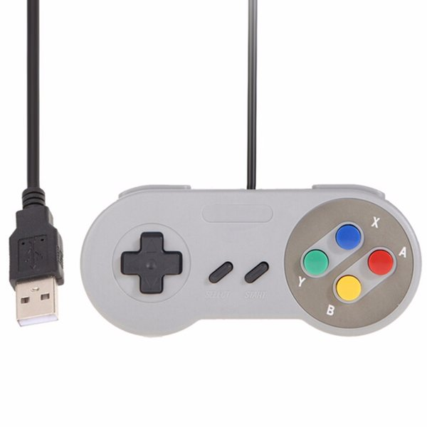 Classic USB Controller PC Controllers Gamepad Joypad Joystick Replacement for Super Nintendo SF for SNES Windows MAC