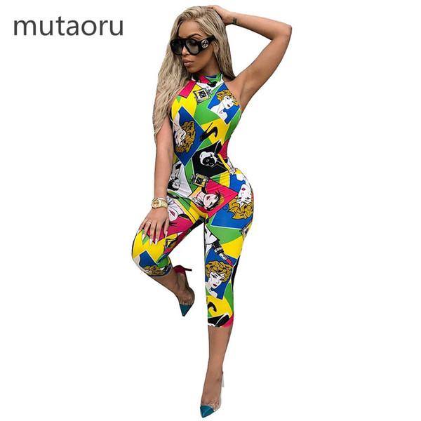 2d5aa6313f Plus Size Sleeveless Strappy Dashiki African Print Jumpsuit Women ...