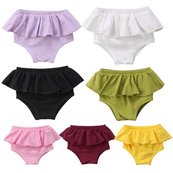 New Infant Baby Boy Girl Cotton Tutu Lace Ruffles Beach Summer Panties Bottoms Newborn Kids Bloomer Diaper Cover Briefs Swimsuit