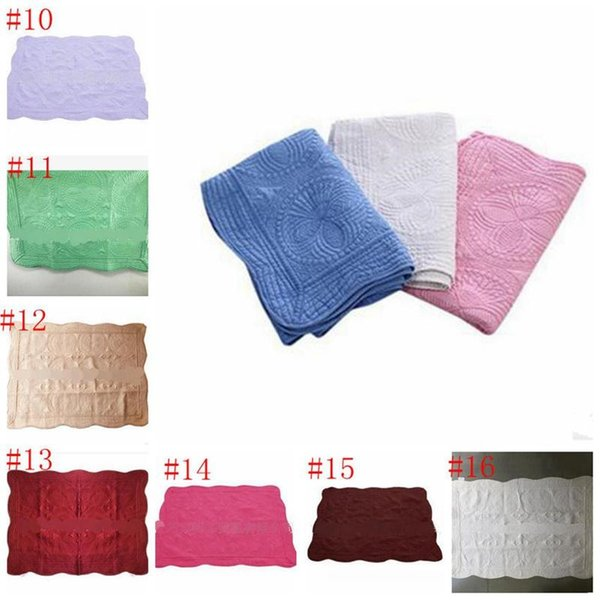 top popular 16 color INS Baby Blanket Toddler Pure Cotton Embroidered Blanket Infant Ruffle Quilt Swaddling Breathable Air Conditioning Blanket MMA633 6 2019