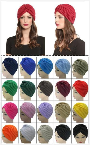 Soft Indian Style Yoga Headwrap Cap Turban Hat Cloche Chemo Hair Cover Arabian Head Wrap Cap free ship