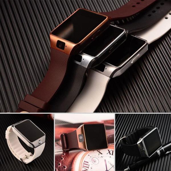 Freie Verschiffen DZ09 Bluetooth intelligente Uhr-Telefon-Kamerad G / M SIM für androiden iPhone Samsung Huawei Handy 1.56 Zoll geben DHL-smartwatches frei