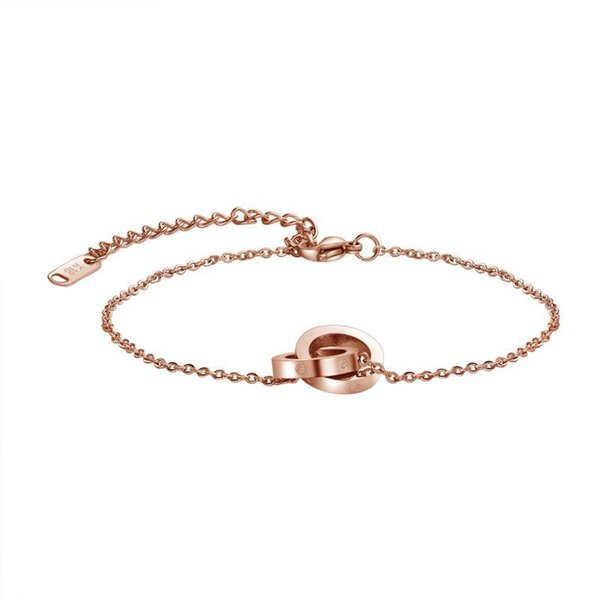Luxury Lady Fashion Charm Bracelets Rose Gold Designer Charm for Valentine's Day Double Circluar Chain Fashion Accessories