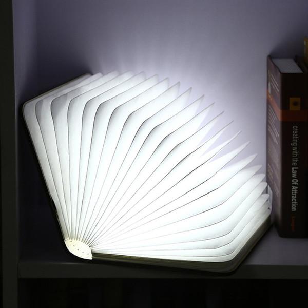 Новая Книга Свет Лампы Складной СВЕТОДИОДНЫЙ Ночник Творческий LED Best Home Новинка Декоративные USB Аккумуляторные Лампы Белый / Теплый