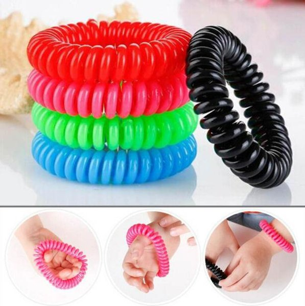 top popular Mosquito Repellent Phone Ring Summer Natural Plant Oils Phone Strap Elastic Anti-mosquito Bracelet Spiral Hand Wrist SN1196 2019