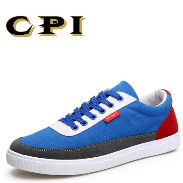 CPI New All-match shallow Fashion design British Style Men's casual Breathable Comfortable lightweight canvas shoes pp-29