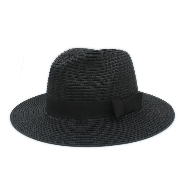 5da92bb041b Classic Summer Women Toquilla Straw Sun Hat For Elegant Lady Wide Brim  Panama Hat For Female Sunbonnet Beach Cap With Bowknot