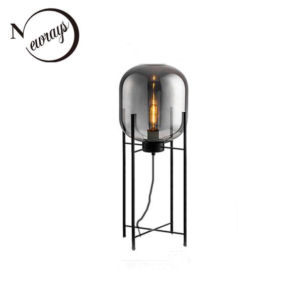 Modern European style unique glass floor light E27 220V LED luxury lustre floor lamp for bedroom restaurant parlor study cafe