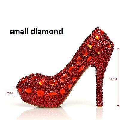 Red 12cm small diamond
