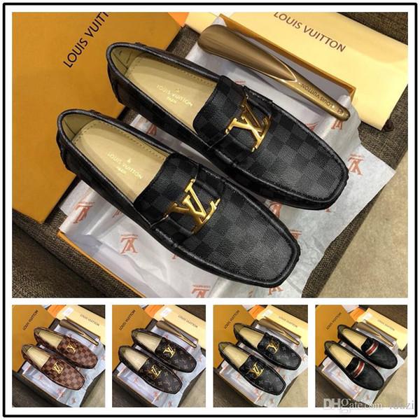 Горячо! Итальянский роскошный дизайнер кожа платье обувь кожа свадьба мужская обувь замша мода мокасины каблук Обувь размер 38-46